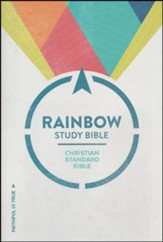 CSB Rainbow Study Bible, Black and Tan LeatherTouch, Thumb-Indexed