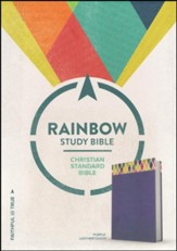 CSB Rainbow Study Bible, Purple LeatherTouch