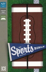 NIV Sports Collection Bible--soft leather-look, brown with football design
