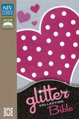 NIV Glitter Bible Collection--flexible cover, pink polka-dot heart