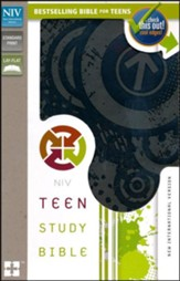 NIV Teen Study Bible, Italian Duo-Tone, Charcoal