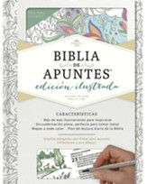RVR 1960 Biblia de apuntes, Edición ilustrada (Notetaking Bible Illustrated Ed. White Over Board)