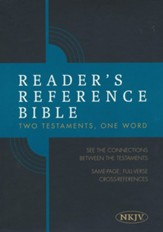 Reader's Reference Bible: NKJV  Edition, Tan Cloth Over Board, Thumb-Indexed