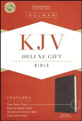 KJV Deluxe Gift Bible, Black LeatherTouch