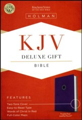 KJV Deluxe Gift Bible, Purple LeatherTouch - Slightly Imperfect