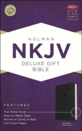 NKJV Deluxe Gift Bible, Black LeatherTouch