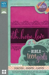 NIV Bible for Teen Girls--soft leather-look, pink