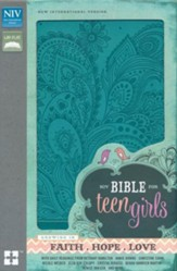 NIV Bible for Teen Girls--soft  leather-look, Caribbean blue