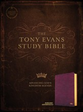 CSB Tony Evans Study Bible--soft leather-look, burgundy