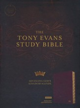 CSB Tony Evans Study Bible--soft leather-look, burgundy (indexed)
