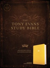 CSB Tony Evans Study Bible--hardcover cloth over board, goldenrod