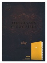 CSB Tony Evans Study Bible--hardcover cloth over board, goldenrod (indexed)