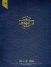 CSB Study Bible, Holman Handcrafted  Collection--premium goatskin leather, black
