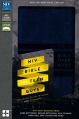NIV Bible for Teen Guys--soft leather-look, blue