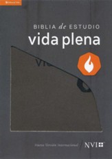 NVI Biblia de Estudio Vida Plena, NVI Full Life Study Bible, Bonded Leather, Black