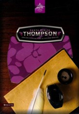 Santa Biblia Thompson RVR 1960, Piel Fabricada, Rosado/ Morado (Thompson Imitation Leather Pink/Purple)