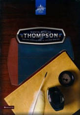 Santa Biblia Thompson RVR 1960, Piel Fabricada, Azul/ Marron (Thompson Imitation Leather Blue/Brown)