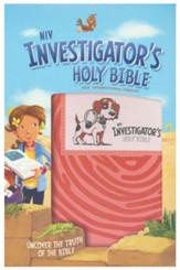 NIV Investigator's Holy Bible--soft leather-look, coral