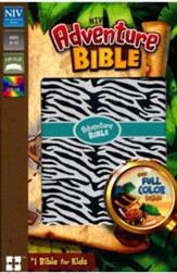 NIV Adventure Bible, Imitation Leather, Zebra Print