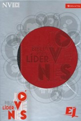 Biblia para el Lider de Jovenes NVI, Piel Imit. Negra/Rojo   (Youth Leader Bible, Imit. Leather Black & Red)