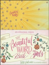 NIV Beautiful Word Bible for Girls--hardcover, yellow