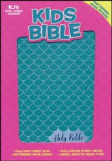 KJV Kids Bible, Aqua LeatherTouch