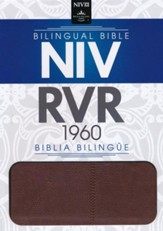 Biblia Bilingue NIV/RVR 1960, Piel Ital. Dos Tonos, Marron  (NIV/RVR 1960 Bilingual Bible, Ital. Duo-Tone Leather, Brown)