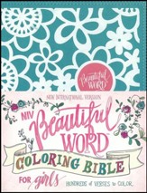 NIV Beautiful Word Coloring Bible for Girls Teal, Imitation Leather - Slightly Imperfect