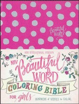 NIV Beautiful Word Coloring Bible for Girls Pink, Imitation Leather - Imperfectly Imprinted Bibles