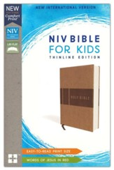 NIV Bible for Kids, Imitation Leather, Tan