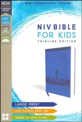 NIV Bible for Kids, Large Print, Imitation Leather, Blue