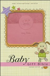 NIV Baby Gift Holy Bible, Leathersoft, Pink, Comfort Print - Imperfectly Imprinted Bibles
