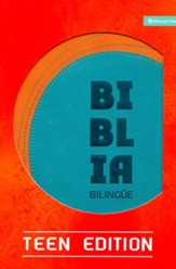 Biblia Bilingue NVI/NIV, Ed. Juvenil, Piel Imit. Naranja/Turquesa  (NVI/NIV Bilingual Bible Teen Ed., Imit.Leather, Orange/Tur.)