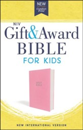 NIV Comfort Print Gift and Award Bible for Kids, Imitation Leather, Pink - Slightly Imperfect