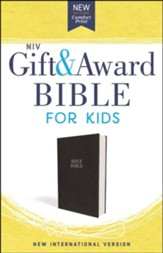 NIV Gift and Award Bible for Kids, Flexcover, Black, Comfort Print - Slightly Imperfect