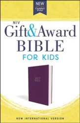 NIV Gift and Award Bible for Kids, Flexcover, Purple, Comfort Print - Slightly Imperfect