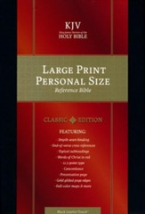 KJV Large Print Personal Size Reference Bible, Black LeatherTouch Classic Edition - Slightly Imperfect