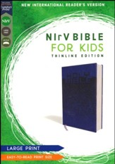 NIrV Large-Print Bible for Kids--soft leather-look, blue