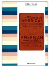 Biblia Bilingue LBLA/NASB, Piel Imit. Marrón  (LBLA/NASB Bilingual Bible, Brown Imit. Leather)