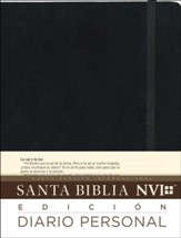 Santa Biblia NVI, Ed. Diario Personal, Negro  (NVI Holy Bible, Journal Edition, Black) - Slightly Imperfect