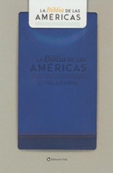 Biblia LBLA Letra Gde. Tam. Manual, Piel Imit. Azul  (LBLA Handy-Size Large Print Bible, Imit. Leather Blue)