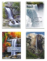Waterfalls, Birthday Cards, Box of 12