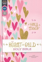 NIV Heart of Gold Comfort Print Holy Bible, hardcover