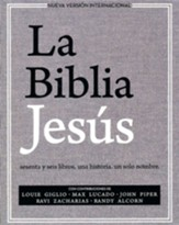 La Biblia Jesus NVI, Tapa Dura, Tela Gris   (NVI The Jesus Bible, Hardcover, Gray) - Slightly Imperfect