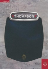 Biblia de Referencia Thompson RVR 1960, Piel Imit. Negra  (RVR 1960 Thompson Reference Bible, Black LeatherSoft)