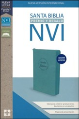 NVI Santa Biblia de Premio y Regalo, Leathersoft, Aqua con cierre (Gift & Award Bible, Aqua with Zipper)