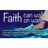 Faith Can Walk on Water Scripture Cards, Pack of 25