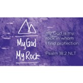 My God My Rock Scripture Cards, Pack of 25