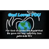 God Loves You Scripture Cards, Pack of 25