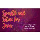 Sparkle and Shine for Jesus Scripture Cards, Pack of 25